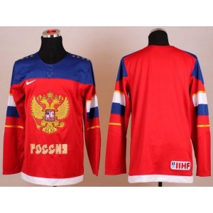 2014 Olympic Team Russia Blank Red Hockey Jersey