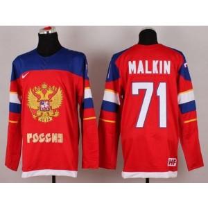 2014 Olympic Team Russia No.71 Evgeni Malkin Red Hockey Jersey