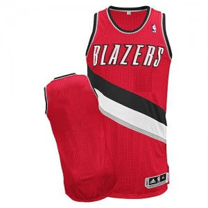 NBA Blazers Blank Red Revolution 30 Men Jersey