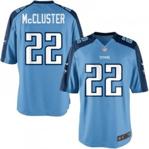 Nike Tennessee Titans No.22 Dexter McCluster Blue Game Jersey