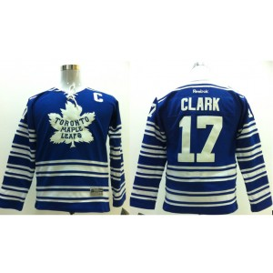 NHL Maple Leafs 17 Wendel Clark Blue With C Patch 2014 Winter Classic Men Jersey