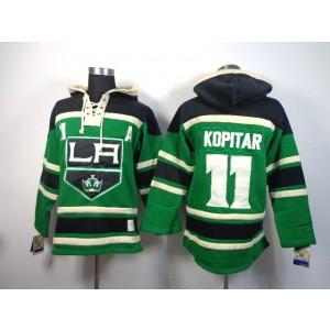 NHL Kings 11 Anze Kopitar With A Patch Green Men Sweatshirt