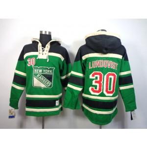 NHL Rangers 30 Henrik Lundovist Green Men Sweatshirt