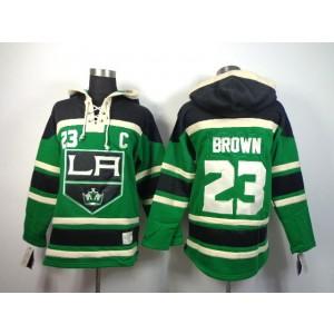 NHL Kings 23 Dustin Brown Green Men SweatshirtWith C Patch Men Jersey
