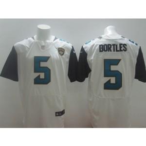 Jacksonville Jaguars No.5 Blake Bortles White 2014 NFL Draft Pick Men's Football Stitched Elite Jersey