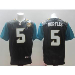 Jacksonville Jaguars No.5 Blake Bortles Black 2014 NFL Draft Pick Men's Football Stitched Elite Jersey