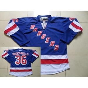 NHL Rangers 36 Mats Zuccarello Blue Home Reebok Men Jersey