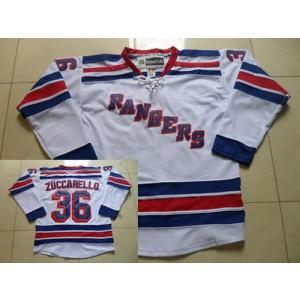 NHL Rangers 36 Mats Zuccarello White Road Reebok Men Jersey