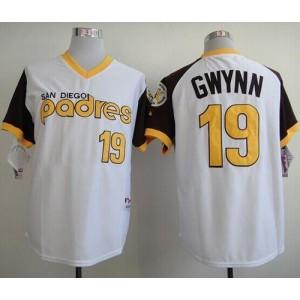 MLB Padres 19 Tony Gwynn White 1978 Turn Back The Clock Men Jersey