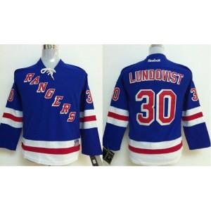NHL Rangers 30 Henrik Lundqvist Blue Youth Jersey