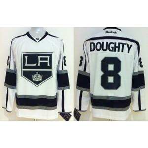 NHL Kings 8 Drew Doughty White Men Jersey
