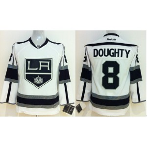 NHL Kings 8 Drew Doughty White Youth Jersey
