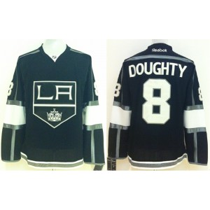 NHL Kings 8 Drew Doughty Black Men Jersey
