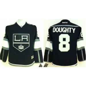 NHL Kings 8 Drew Doughty Black Youth Jersey