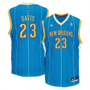 NBA Hornets 23 Anthony Davis Creole Blue Revolution 30 Men Jersey