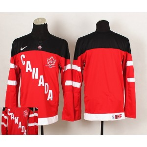 Team Canada Blank Red And Black Men's Hockey Jersey