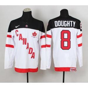 Team Canada No.8 Drew Doughty White And Black Men's Hockey Jersey