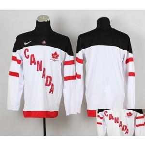 Team Canada Blank White And Black Men's Hockey Jersey
