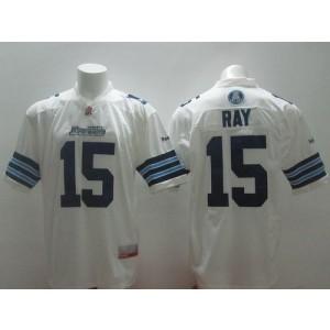 Toronto Argonauts No.15 Ricky Ray White Men's Football Jersey