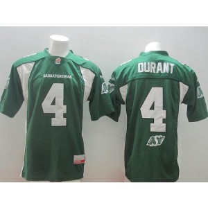 Saskatchewan Roughriders No.4 Darian Durant Green Men's Football Jersey