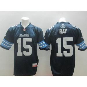 Toronto Argonauts No.15 Ricky Ray Navy Blue Men's Football Jersey