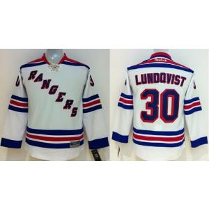 NHL Rangers 30 Henrik Lundqvist White Youth Jersey