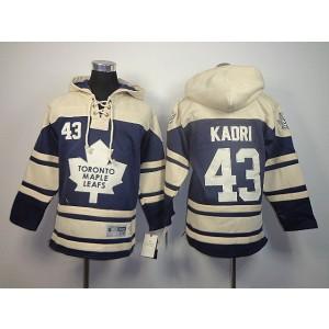 NHL Maple Leafs 43 Nazem Kadri Blue And Cream Men Sweatshirt