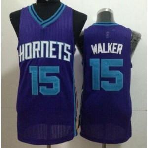 NBA Hornets 15 Kemba Walker Purple Men Jersey