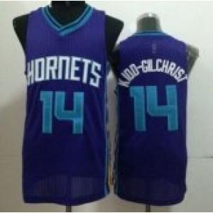 NBA Hornets 14 Michael Kidd-Gilchrist Purple Revolution 30 Men Jersey