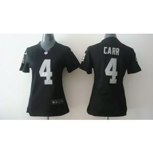 Oakland Raiders No.4 Derek Carr Black Women's Football Jersey