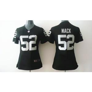 Oakland Raiders No.52 Khalil Mack Black Women's Football Jersey