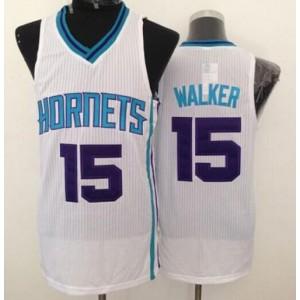 NBA Hornets 15 Kemba Walker White Revolution 30 Men Jersey