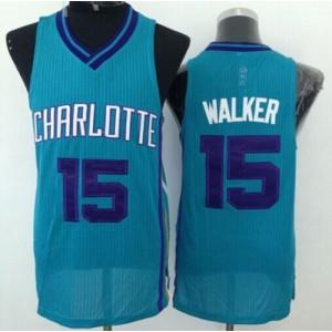NBA Hornets 15 Kemba Walker Blue Revolution 30 Men Jersey