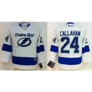 NHL Lightning 24 Ryan Callahan White Youth Jersey