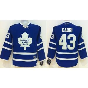 NHL Maple Leafs 43 Nazem Kadri Blue Youth Jersey
