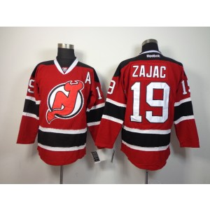 NHL Devils 19 Travis Zajac Red With A Patch Men Jersey