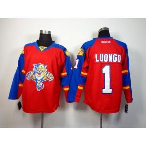 NHL Panthers 1 Roberto Luongo Red Men Jersey