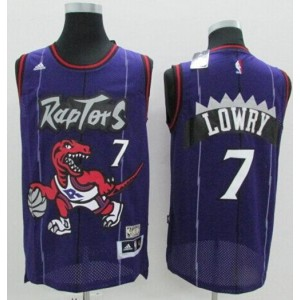 NBA Raptors 7 Kyle Lowry Purple Hardwood Classics Men Jersey