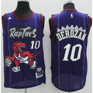 NBA Raptors 10 DeMar DeRozan Purple Hardwood Classics Men Jersey