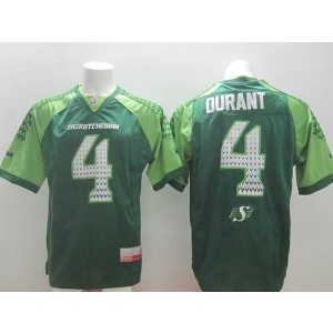 Roughriders 4 Darian Durant White Stitched Signature CFL Jersey