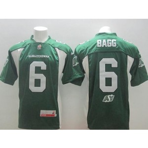 Roughriders 6 Rob Bagg Green Stitched CFL Jersey