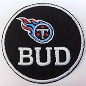 Stitched NFL Tennessee Titans BUD Jersey Patch