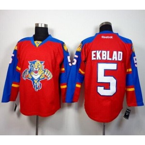 NHL Panthers 5 Aaron Ekblad Red Home Men Jersey