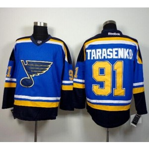 NHL Blues 91 Vladimir Tarasenko Light Blue Home Men Jersey