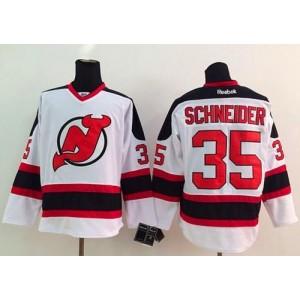 NHL Devils 35 Cory Schneider White Men Jersey