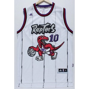 NBA Raptors 10 DeMar DeRozan White Throwback Men Jersey