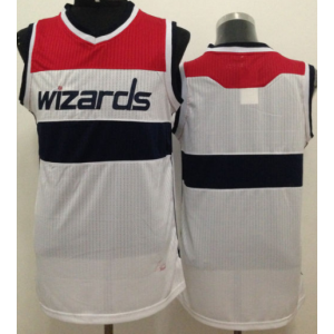 NBA Wizards Blank White Revolution 30 Men Jersey