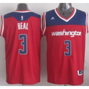 NBA Wizards 3 Bradley Beal Red Revolution 30 Men Jersey
