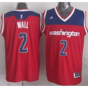 NBA Wizards 2 John Wall Red Revolution 30 Men Jersey