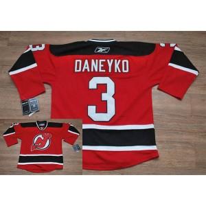 NHL Devils 3 Ken Daneyko Red Men Jersey